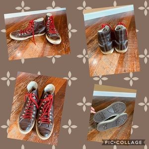 Men's brown leather converse size 11